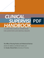 Clinical Supervision Handbook