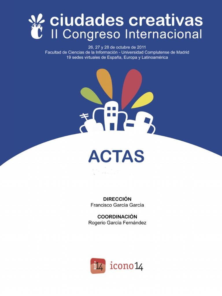 f1cd4c3fe7f6 Actas del II Congreso Ciudades Creativas. Tomo 1
