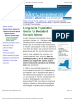 Long-Term Population Goals for Resident Canada Geese - NYS Dept. of Environmental Conservation
