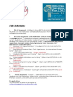 Fair Schedule - November 13, 2012