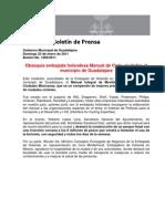 23-01-2011 Obsequia Embajada Holandesa Manual de Ciclo-Ciudades Al Municipio de Guadalajara