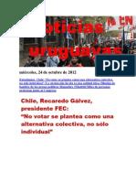 Noticias Uruguayas jueves 25 de octubre del 2012