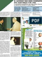 EL DR. ALFONSO VAN UDEN COMPARTIO CON EL BEATO JUAN PABLO II EN 1986