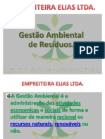 EMPREITEIRA ELIAS LTDA Gestão Ambiental.