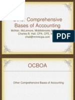 OCBOA - Other Comprehensive Bases of Accounting