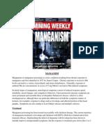 Manganese Poisoning