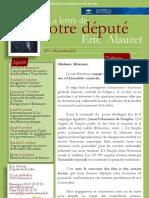 Lettre n°1 - Eric Alauzet -  24 Octobre 2012