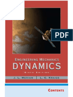 Engineering Mechanics Dynamics, 6th Edition Meriam Kraige