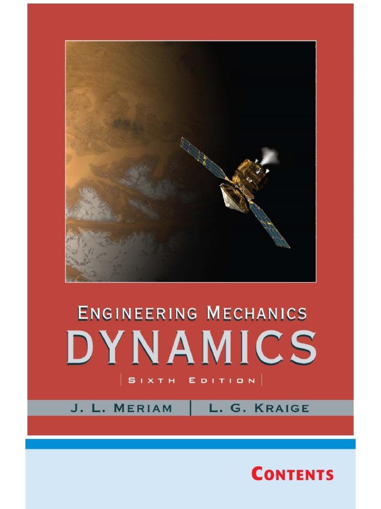 engineering mechanics dynamics  edition meriam kraige