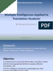 Multiple Intelligences Applied to Translation Students
