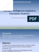 Multiple Intelligences Applied to Translation Students