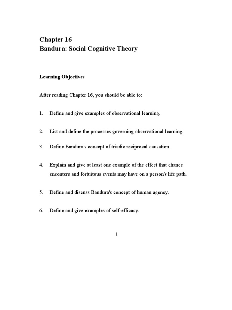 feist7e sg ch16 | self efficacy | metaphysics of mind