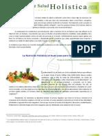 """La Nutrición Holística un buen paso para la Salud """""""