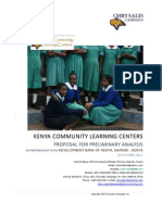 Dev Bank Kenya Kenya - Community Learning Centers Strategic Plan Proposal