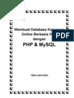 PHP Dan MySQL Studi Kasus Database Karyawan