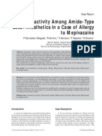 Cross Reactivity for caine drug group