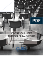 Ontario University Student Alliance (OUSA) - Ontario's Next Tution Framework - Creating Fair and Accessible Tuition Payment Processes for Students - Part 2 - October 2012