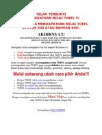Belajar TOEFL Dengan Metode MIndMap