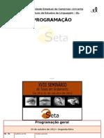 Programação SETA 2012
