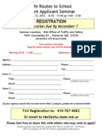 Safe Routes to School Applicant Registration[1]