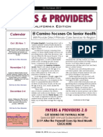 Payers & Providers California Edition – Issue of October 25, 2012