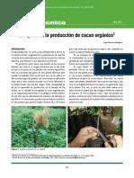 C Injerto en La Produccion de Cacao Organico 2006