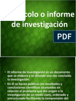 Protocolo o Informe de Investigacion