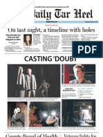 The Daily Tar Heel for October 25, 2012