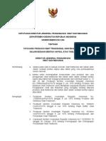 Keputusan DirJen POM Mengenai Peraturan Produksi Kapsul Obat Bahan Alam