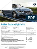 BMW ActiveHybrid 3 Specs Sheet
