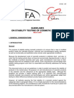 Guidelines on Stability Testing of Cosmetics Products