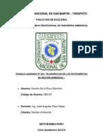 Trabajo Encargado - Instrumentos de Gestión Ambiental. Sandro De la Roca.