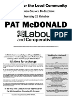 Pat's by Election Leaflet No 1