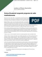 Guinea Ecuatorial Suspende Programa d