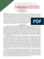 The Minimum Cost Forwarding Using MAC Protocol for Wireless Sensor Networks