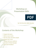 Workshop on Presentation Skills