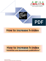 How to Increase H-Index by Nader Ale Ebrahim