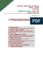 LAMPEA-Doc 2012 - numéro 38 / jeudi 25 octobre 2012