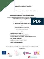 Einladung Kulturpolitik Ist Zukunftspolitik Am 12 11 2012