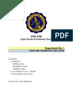 Diode & Transistor Logic Gates