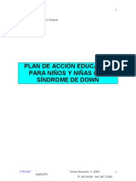 Plan de Accion Educativa Sindrome Down