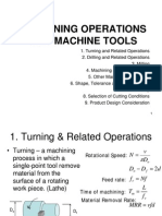Operations i\of machine tools