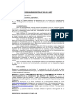 2 Ordenanza Municipal 005-2011-MDT Licencia Funcionamiento