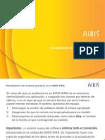 Actualización Software AIRIS KIRA con WinImage