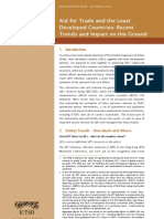 Aid for Trade and the Least Developed Countries. Recent Trends and Impact on the Ground