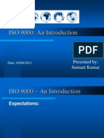 ISO 9000 Introduction Sumant