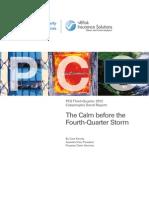 PCS Third-Quarter Catastrophe Bond Report