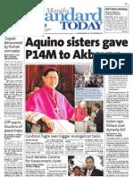 Manila Standard Today - Friday (October 26, 2012) Issue