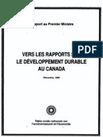 Vers les rapports sur Le développement durable Au canada