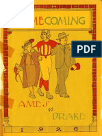 1926 Homecoming Football Program